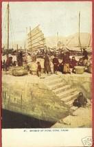 Hong Kong China Harbor People Boats Postcard - $10.00