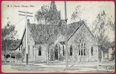 CHICAGO OHIO M E Church OH Postcard Willard