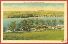 Hornell NY Postcard Loon Lake Linen New York BJs - $6.50