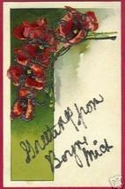 Boyne Michigan Poppies Floral Glitter Pc Mi - $6.50