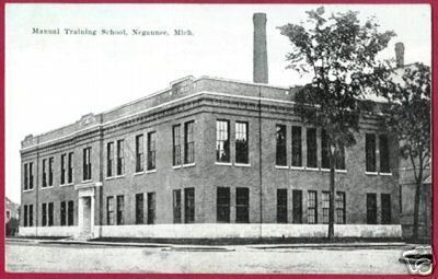 Primary image for NEGAUNEE MICHIGAN Manual Training School MI UP