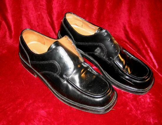New Mens Lord & Taylor Remington Black Leather Shoes 11