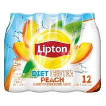 Lipton Diet Peach Iced Tea, 16.9 Fl Oz, (24 bottles) - $24.65