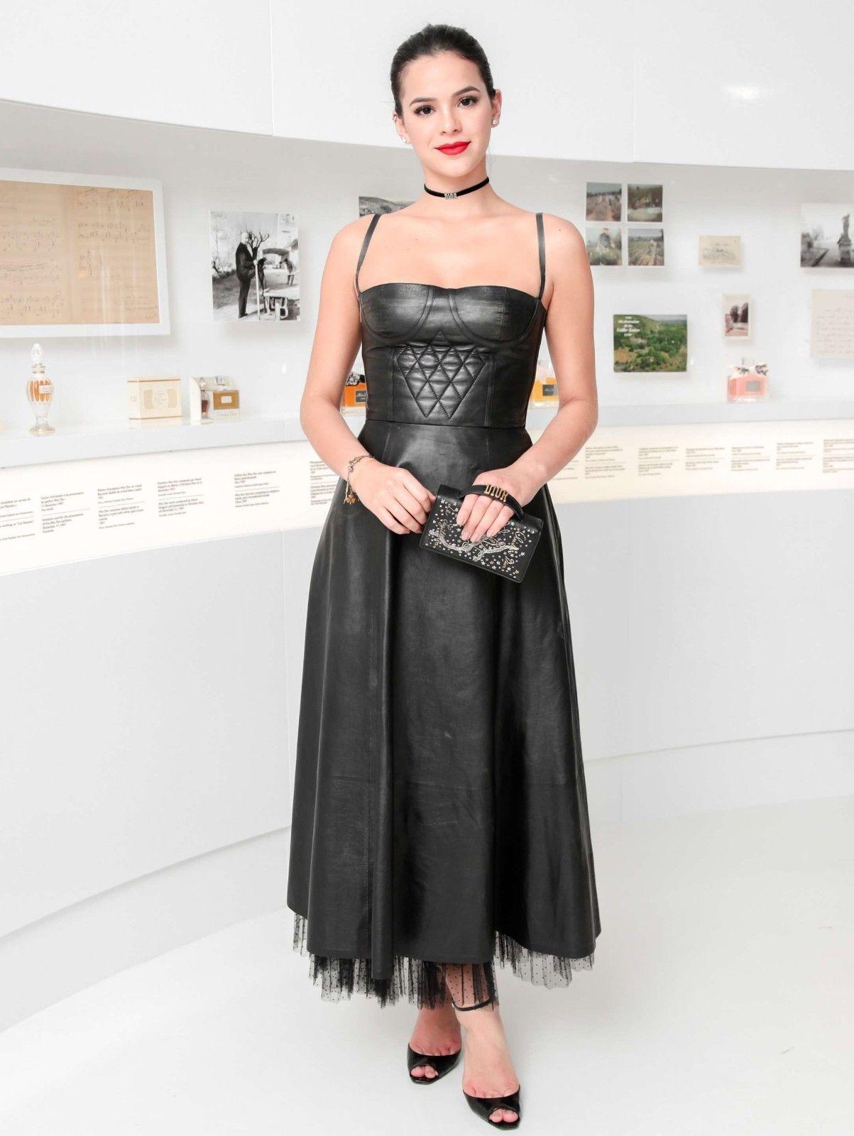 Bruna Marquezine Hot Celebrity Women\'s Genuine Leather Cocktail ...