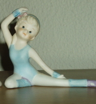 Homco Ballerina Dressed in Blue Figurine Home Interiors - $7.99