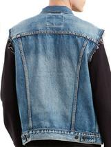Levi's Men's Red Tab Button Up Denim Jeans Jayden Trucker Vest Blue 728870013 image 2