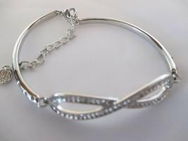 Lady Colour Swarovski Crystal Love Knot Silver Bracelet - $34.65