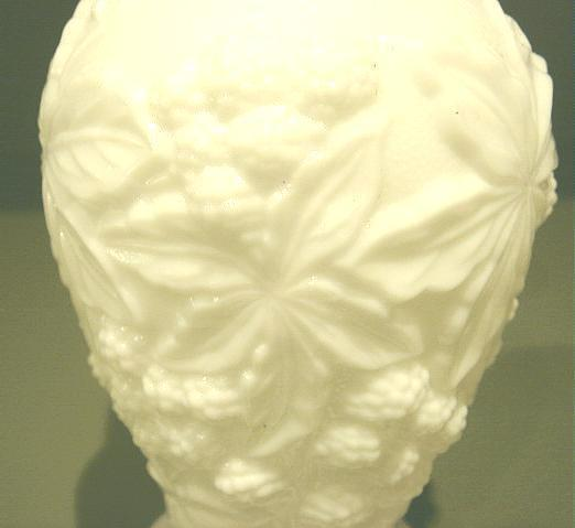Vintage LOGANBERRY Imperial Glass Milk Glass Vase