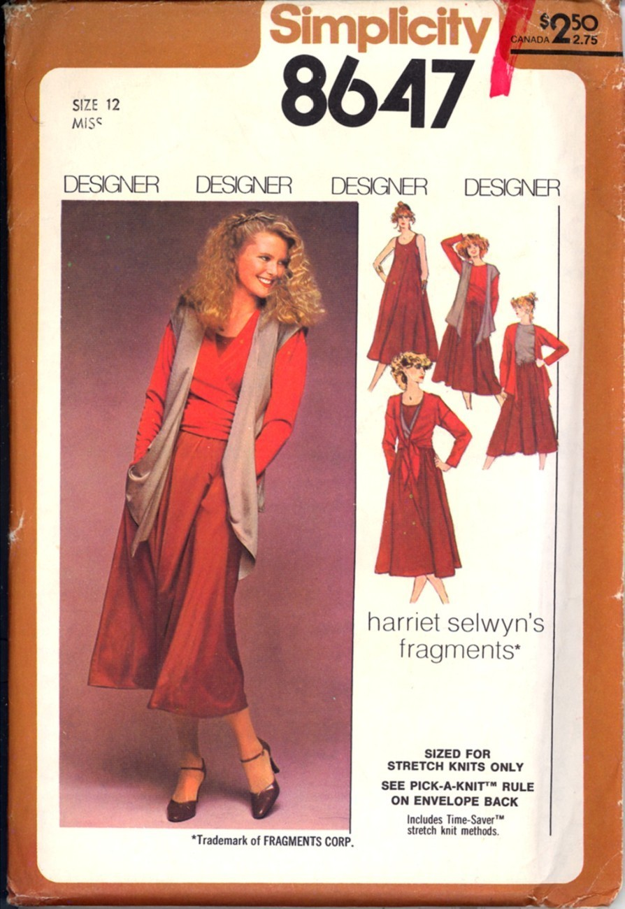 8273 UNCUT McCalls SEWING Pattern Misses Pullover Jumper Sundress Side Tie EASY