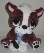 "Rescue Pets Interactive Boxer Brown White Puppy Dog 10"" Sitting Plush Wh... - $20.00"