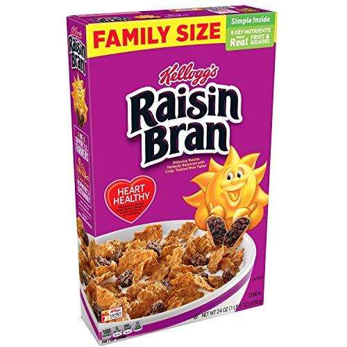 Kellogg's Raisin Bran, Breakfast Cereal, Original, Excellent Source of Fiber, 24