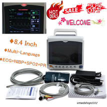 Portable Vital Signs ICU Patient Monitor 4 parameters 8.4 INCH ECG NIBP ... - $598.73
