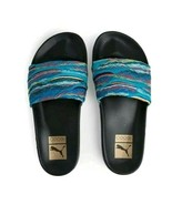 Puma Leadcat Coogi Multi Mens Blue Textile Slides Slip On Sandals Shoes - $26.99