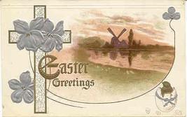 Easter Greetings 1908 Vintage Post Card  - $5.00