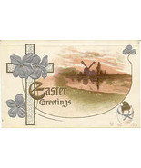 Easter Greetings 1908 Vintage Post Card  - $5.00