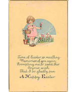 A Happy Easter Vintage Post Card - $4.00