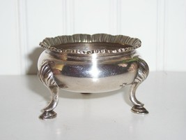John Round & Sons EP Footed Master Salt Celler1847-1874 - $45.00