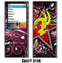 Skin Decal for Apple iPod Nano 4G Crazy Star - $4.88