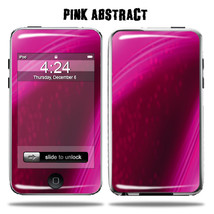 Vinyl Skin Decal for Apple iPod Touch - Pink Abstract - $4.88
