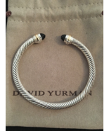 David Yurman Classic Cable 5mm Bracelet With 14K Gold & Black Onyx (Medium) - $295.00