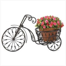 Small Old Fashioned BICYCLE PLANT STAND Black Indoor Outdoor - $32.71