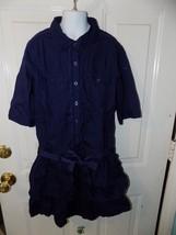 JUSTICE UNIFORM DIVISION BLUE DRESS SIZE 14 GIRL'S EUC - $21.60