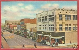 Albuquerque NM Central Avenue 1947 Linen Postcard BJs - $6.50