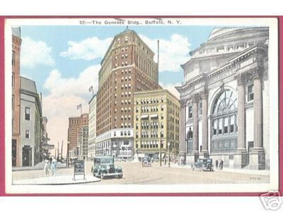 Primary image for BUFFALO NEW YORK Genesee Building Cars People1933