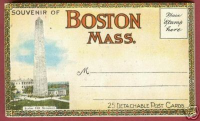 25 BOSTON MASSACHUSETTS Postcards Souvenir Folder BJs