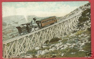 WHITE MTS NH Jacob's Ladder Train MWR RR Mt Washington