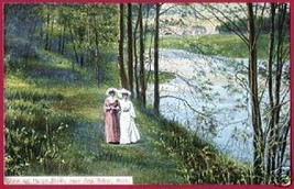 ANN ARBOR MICHIGAN Huron River Ladies 1911 MI - $7.50
