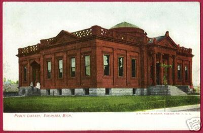 Primary image for ESCANABA MICHIGAN Library MI 1907 Upper Peninsula