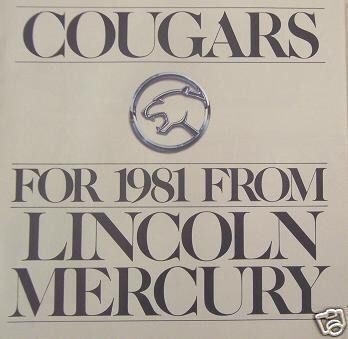 Primary image for 1981 Mercury Cougar Brochure