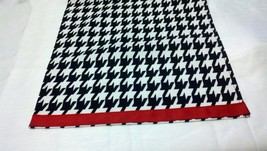 HOUNDSTOOTH TABLE LINENS- with or without Red Band- Houndstooth Table Ru... - $14.50