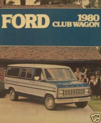 Primary image for 1980 Ford Club Wagon Brochure