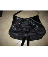 Christian Dior Leather & Satin Handbag Black  - $437.50