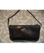 Stephane Kelian  Woven Clutch  HandBag Black Le... - $98.00