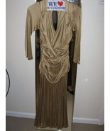 Giuliana Teso Gold Jersey RUNWAY Dress  - $437.50