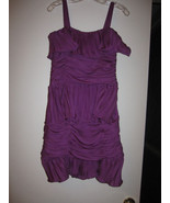 Bryan Bradley Fuschia Silk Dress Ruffle Size 4 ... - $131.95