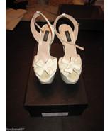 GIAMBATTISTA VALLI White Ivory Sandal $850 38.5 - $350.00