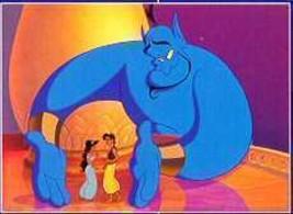 Disney Aladdin Princess Jasmine & Genie Lithograph - $18.59