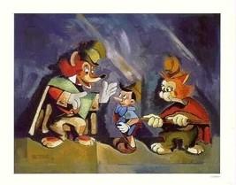 Disney Pinocchio  Villain Rare Lithograph - $67.62