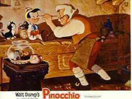 Disney Pinocchio Gepetto Figero Cat Workshop Lobby Card - $23.93