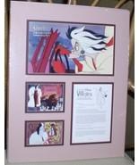 Disney Villain Cruella De Vil  Cast member Lithograph - $93.99