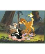 Disney Bambi Commemorative Gold Seal Lithograph - $49.99