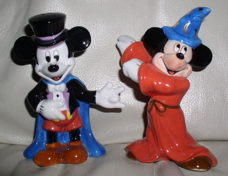 Primary image for Disney Mickey Magician & Sorcerer  Salt & Pepper