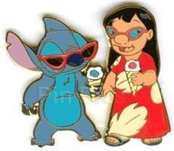 Disney Lilo & Stitch wearing sunglasses  Pin/Pins - $18.98