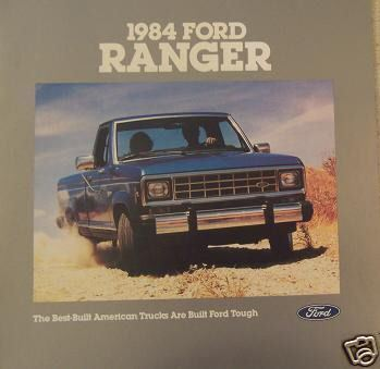 Primary image for 1984 Ford Ranger Brochure