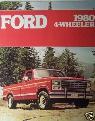 Primary image for 1980 Ford Four Wheel Drive Pickup Trucks Brochure