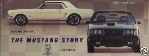 "Primary image for Ford ""The Mustang Story"" Brochure - History of Ford Mustang"